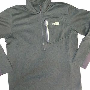 Green North Face 1/2 zip Pullover